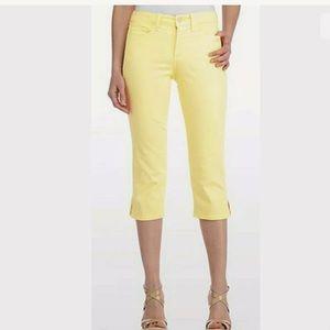 NYDJ Lift & Tuck Rhinestone Grommet Capri Jeans 10